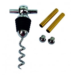 Bottle Stopper with built-in Corkscrew