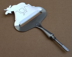 "Cheese Slicer ""running Moose"" Stainless Steel approx. 105x70 mm"