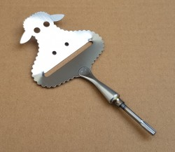 "Cheese Slicer ""Sheep"" Stainless Steel approx. 110x70 mm"