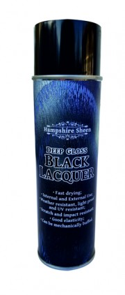 Hampshire Sheen tiefglänzendes Schwarzlack Spray