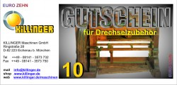 Voucher for Woodturning accessories € 10,--