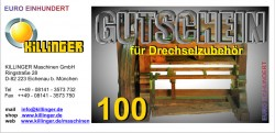 Voucher for Woodturning accessories € 100,--