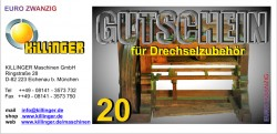 Voucher for Woodturning accessories € 20,--