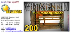 Voucher for Woodturning accessories € 200,--