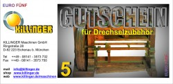 Voucher for Woodturning accessories € 5,--