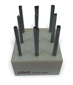 Punches Set of fine tools for wood made by PFEIL