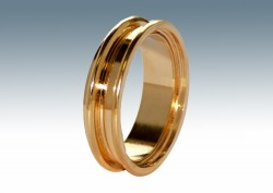 Can Rings brass, screwable 24K Gold